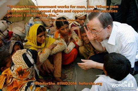 Día Internacional de la Mujer 2014: Campaña 'HerForShe' de ONU Mujeres. // Foto: Evan Schneider